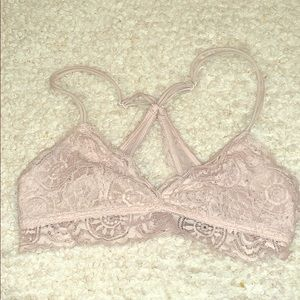 A pink Lacey bralette